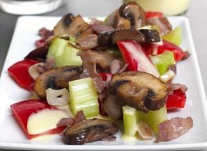 Champignon & Bacon Salade