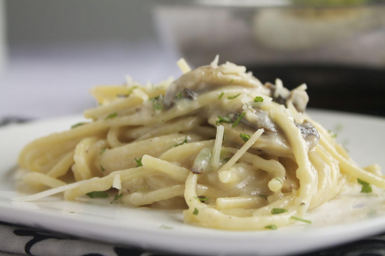 spaghetti champignonsaus