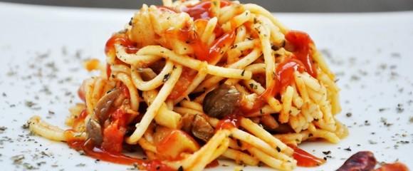 spaghetti-tomaat-champignons
