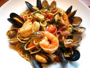 spaghetti alla frutti de mare