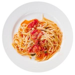 spaghetti met pikante tomatensaus